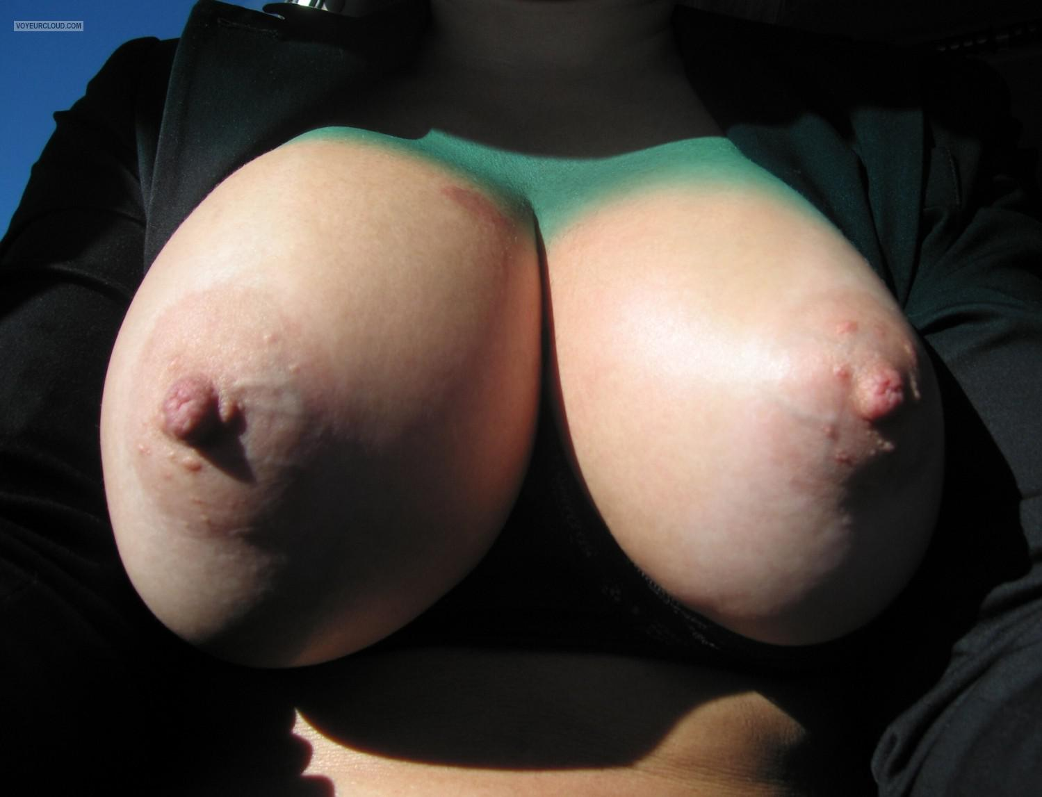 Tit Flash: My Big Tits (Selfie) - Faans Flasher from United States